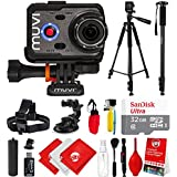 Veho Muvi K-Series K-2 NPNG 1080p 16MP HD WiFi Waterproof Action Camera with 32GB + Hand Grip + LCD + Floating Grip + Head Strap + Tripod Mount VCC-006-K2NPNG