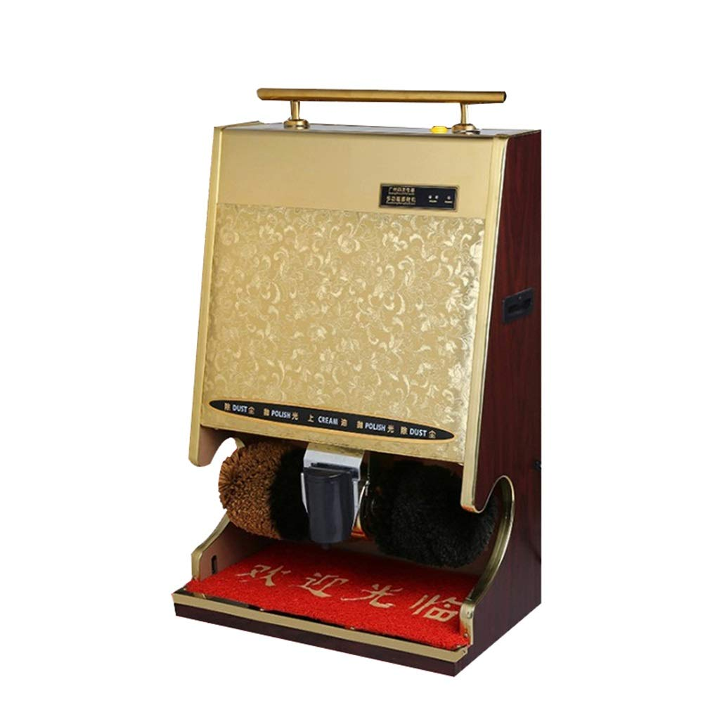 ALUS- Shoe polisher Electric Shoe Shine Machine Automatic Brush Shoe Sensor Vertical Shoe Polisher Suitable for Hotel Entrance Hall