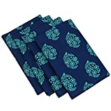 Indian Home Decor Printed Cotton Table Linens Napkins Set of 40 20x20 Inches 200TC by ShalinIndia