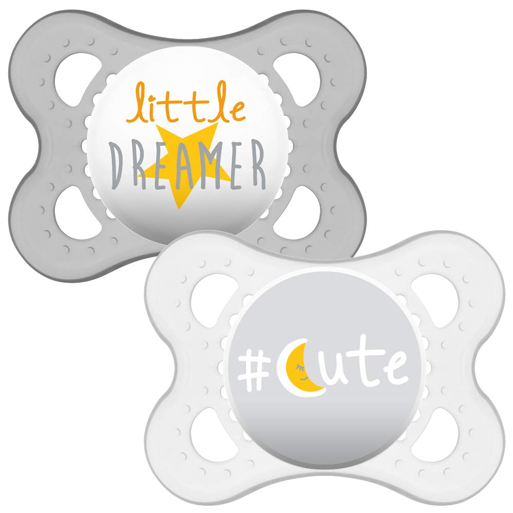 New Pack of 2 Mam START Collection Pacifier Age NEWBORN Yellow