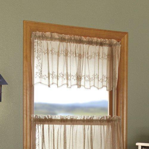 OKSLO August Grove Charleville Sheer Divine 60'' Window - Valance Divine