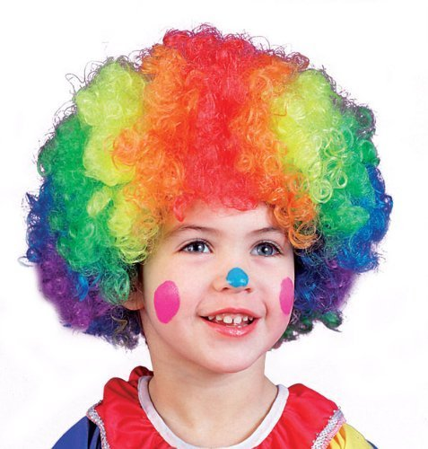 (Kids Multicolor Clown Wig - Child Std.)