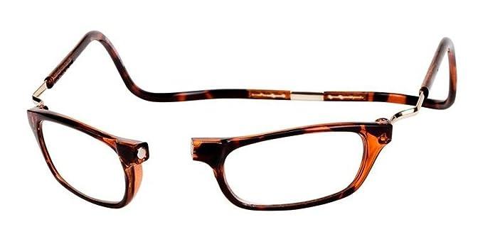 76ba4e8110e2 Amazon.com  Clic XXL Magnetic Reading Glasses in Tortoise