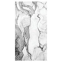 Creative Converting 16 Count Marble Venezia Premium Patterned Paper Guest Towels/Large Napkins, Black/White