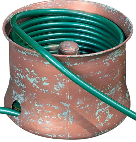 CobraCo Copper Finish Cylinder Hose Holder HHCIRN-S (Best Water Hose Holder)