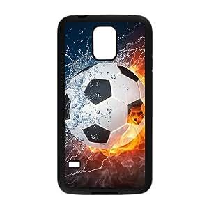 Warm-Dog Creative Fire Water Football Custom Protective Hard Phone Cae For Samsung Galaxy S5