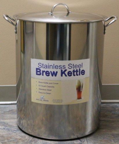 Strange Brew HOZQ8-1657 Stainless Steel Brewing Kettle, 60 quart, Silver 60 Quart Brew Pot