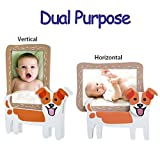 V&M VALERY MADELYN Baby Picture Frame Natural Wood 3 x 5 Picture Frames with Doggie Stands(Jack Russell Terrier)