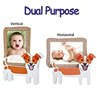V&M VALERY MADELYN Baby Picture Frame Natural Wood, 3.5x5, Jack Russell Terrier