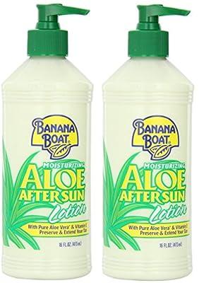 Banana Boat After Sun Lotion Aloe, 16 Oz. (Pack of 2)