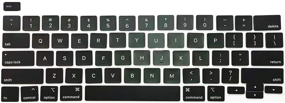 Individual Replacement Key Cap Full Set of US Keyboard Replacement Keycaps Keys QWERTY for MacBook Pro Retina 13