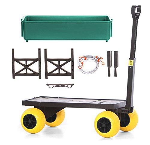 Mighty Max Plus One Multipurpose Garden Fishing Sports Equipment Cart (Equipment Cart Terrain)