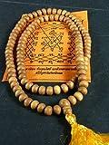 10mm Genuine Sandalwood Mala Fragrant Buddhist Meditation Prayer Beads Necklace