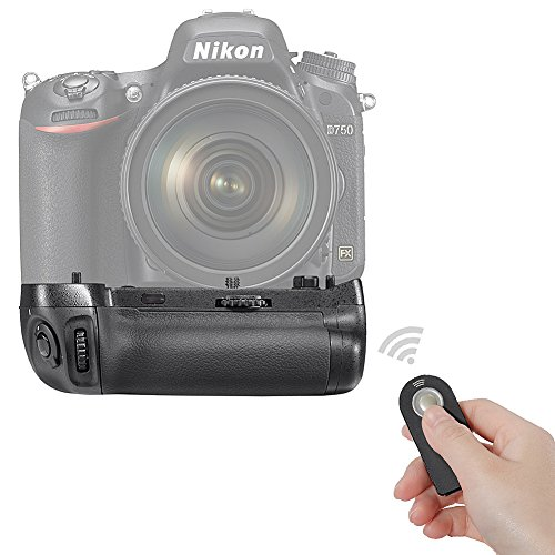 Neewer Infrared Remote Control Vertical Battery Grip Replacement for MB-D16 with 2 pieces of EN-EL15 Replacement Battery pack for Nikon D750 DSLR Camera by Neewer