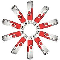 MECO 10Pcs 4GB USB 2.0 Flash Drive Memory Stick Fold Storage Thumb Stick Pen Swivel Design