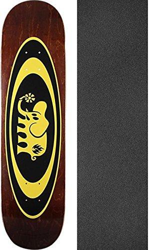 パレードピラミッド証言ブラックラベルスケートボードOval Elephantアソートカラースケートボードデッキ – 8.5