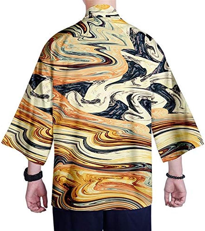 Japanischer Kimono-Strickjacke Hemd XXS-4XL Męskie Kimono Cardigan Top Yukata Kleidung Samurai-Kostüm (Farbe : Style 16, Size : XS): Küche & Haushalt