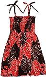 RJC Girls Christmas Leaf Elastic Tube Top Sundress Black 7