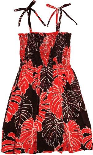 RJC Girls Christmas Leaf Elastic Tube Top Sundress Black 7 by RJC