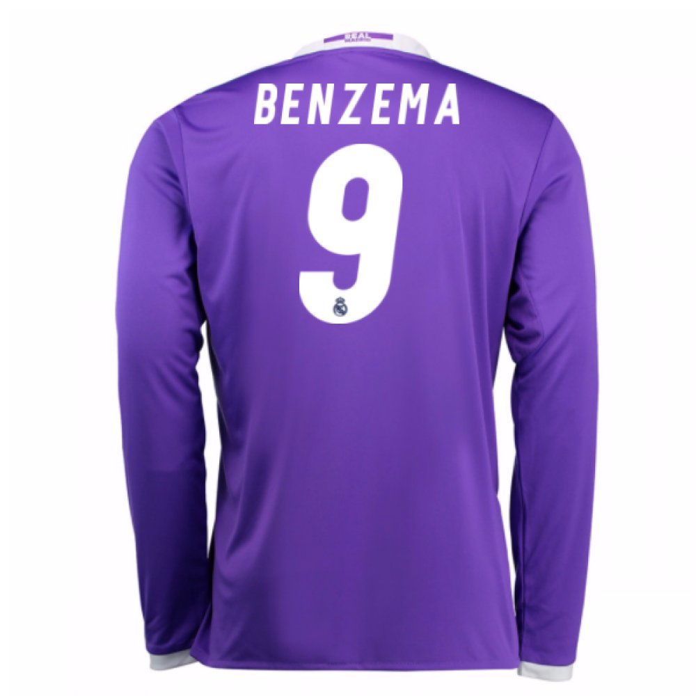 2016-17 Real Madrid Away Football Soccer T-Shirt Trikot (Karim Benzema 9) - Kids