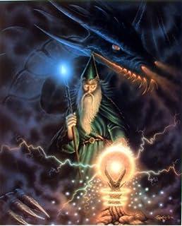 amazon com dragon wall decor magical wizard sorcerer fire crystal