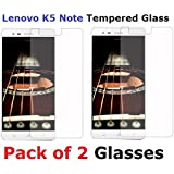 Pack of 2 Tempered Glass Screen Guard for Lenovo K5 Note (With Camera and Sensor Cut) - Shop Buzz Branded - For Lenovo Vibe K5 Note 5.5 inches Screen - High Quality 2.5D Curved