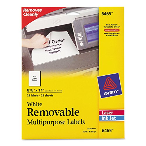 AVE6465 - Avery Removable Label