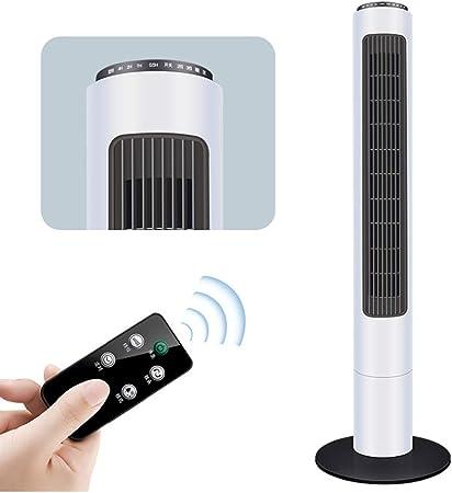 Opinión sobre FHDF Ventilatori oscillanti silenziosi con telecomando, potenti ventole di raffreddamento táctil de panel 3 tempi senza vento 3 velocità con timer 7.5H per camere da letto e ufficio, H89cm (30W, blanc