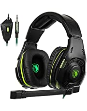 SADES SA-938 Multi-Platform Gaming Headset With Mic 3.5MM Jack IN-LINE Volume Control Over-ear Headphones For New Xbox One/PC/PS4/Smartphones