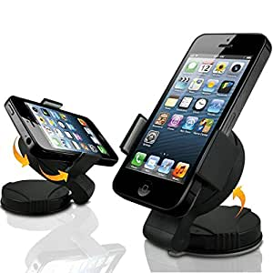 yaobai-super Pinza para Grip 360'rotación de Rótula para coche teléfono celular GPS Soporte y soporte para teléfono móvil con ventosa para parabrisas para teléfono inteligente