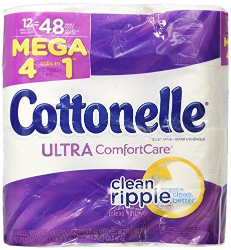 Cottonelle Ultra Comfort Care Mega Roll Toilet Paper, 12 Cou
