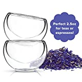 Tea Cup Set of 4 - Modern Double Wall Glass