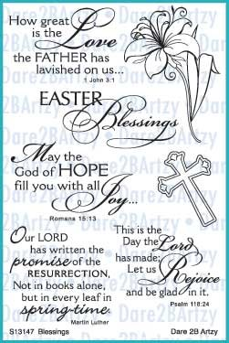 - Dare 2B Artzy Easter Blessings (13147) Clear Cling Rubber Stamp Set
