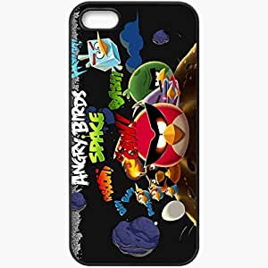 Personalized iPhone 5 5S Cell phone Case/Cover Skin Angry Birds Space Black