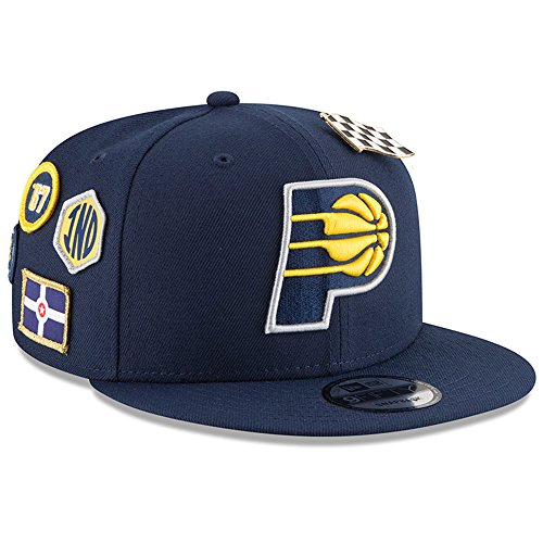 New Era Indiana Pacers 2018 NBA Draft Cap 9FIFTY Snapback Adjustable Hat- Navy by New Era