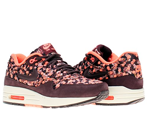Nike Air Max 1 LIB QS Womens Running Shoes 540855-600 Deep Burgundy Bright Mango 8 M US