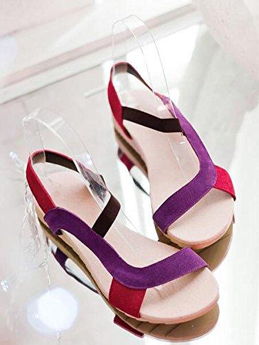 femmes grandes sandales Rome Chaussures pourpre tailles qHg4tx5