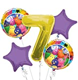 Backyardigans Balloon Bouquet 7th Birthday 5 pcs - Party Supplies