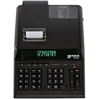 Monroe 8145 X 14-Digit Printing Calculator With Optional Supplies and Foam Elevation Wedge (Calculator, Black)