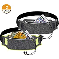 TecUnite 2 Pieces Running Belt Waist Pack Sport...