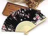 BranXin(TM) 1pc Summer Style Folding Hand Held Fan Fabric Floral Wedding Dance Favor Pocket Fan[ 5 ]