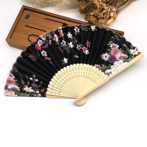 BranXin(TM) 1pc Summer Style Folding Hand Held Fan Fabric Floral Wedding Dance Favor Pocket Fan[ 5 ] by BranXin