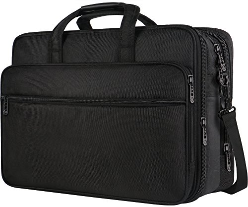 Executive Briefcase - 17 inch Laptop Bag, Large Business Briefcase for Men Women, Travel Laptop Case Shoulder Bag, Waterproof Carrying Case Fits 15.6 inch Laptop, Expandable Computer Messenger Bag for Notebook, Ultrabook