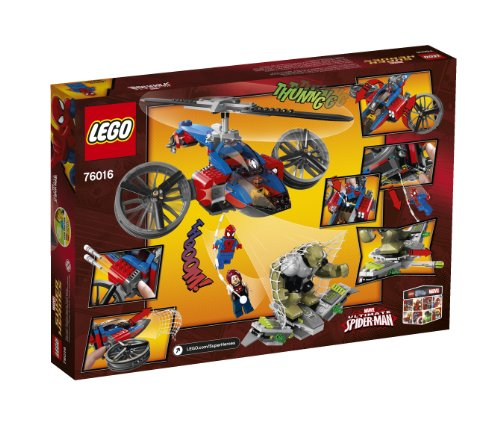 lego superheroes 76016 spiderhelicopter rescue
