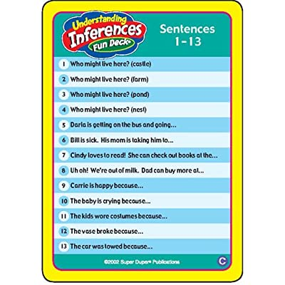 Super Duper Publications | Understanding Inferences Fun Deck | Problem Solving and Reasoning Skills Flash Cards | Educational Learning Materials for Children: Toys & Games