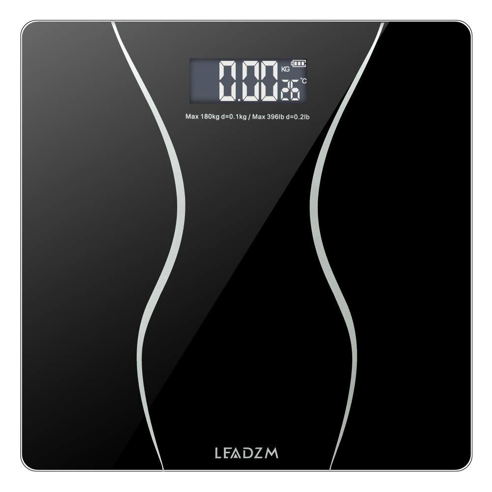 JinsChen 180Kg Slim Waist Pattern Personal Scale Black