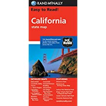 Rand McNally Easy to Read! Calfornia State Map