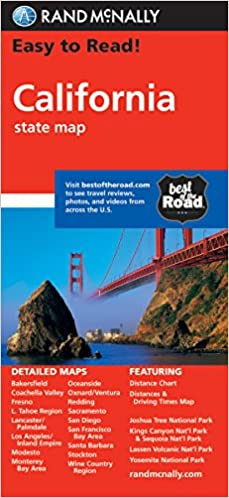 California: State Folded Maps Rand McNally Easy to Read!: Amazon.de on