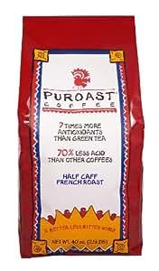 Puroast Low Acid Coffee Half Caff French Roast Whole Bean, 2.5 Pound Bag