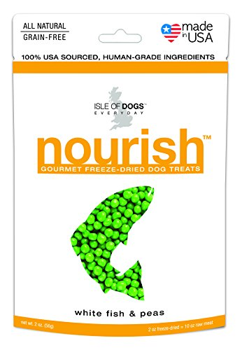 Isle of Dogs Nourish Gourmet White Fish and Peas Dog Treats